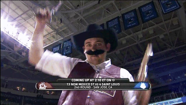 Disguised, Handgun-Wielding Man On Court At NCAA Tournament