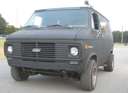 Primered, Chong-Autographed, 3-On-The-Tree Chevy Van May Be Best Motor Vehicle Ever!