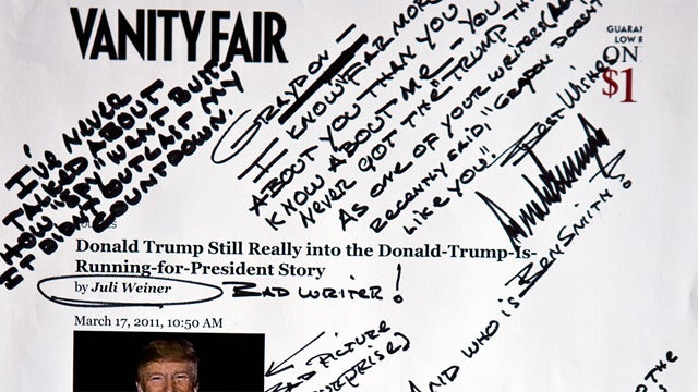 Donald Trump Is Doodling on Blog Posts and Mailing Them to People