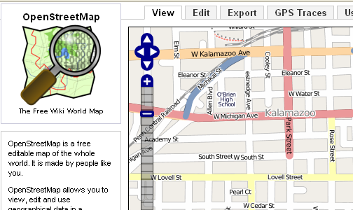 OpenStreetMap Provides Open Source Maps