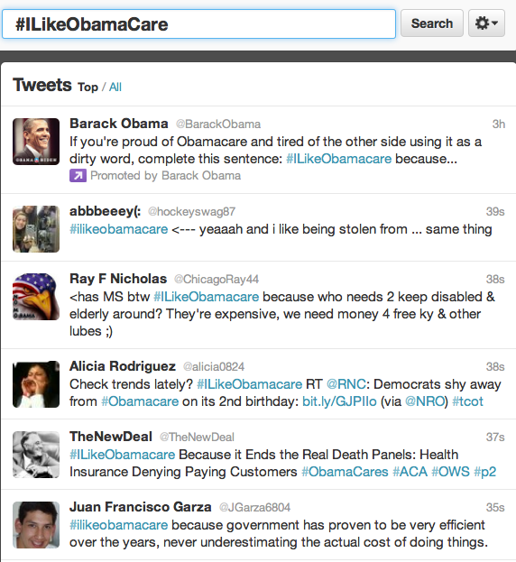 How Conservatives Made #iLikeObamaCare The Number One Topic On Twitter (Updated)