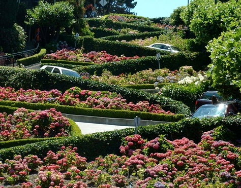 The Slowest Quarter-Mile in the World: Lombard Street!
