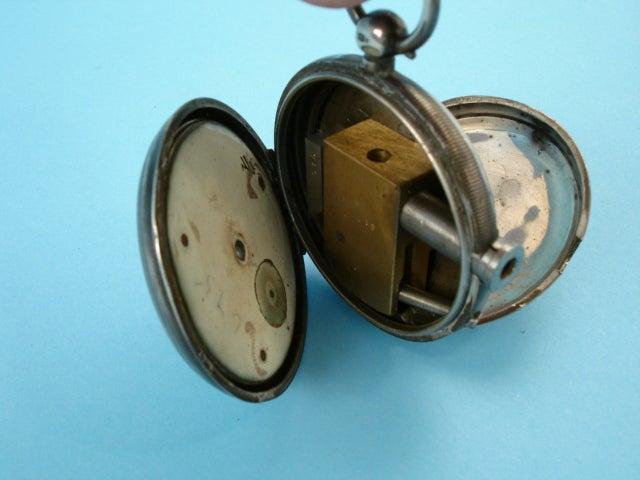 Antique Pocket Watch Hides Tiny Pistol
