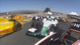 More Bashing And Crashing IndyCar Action From Sonoma Raceway