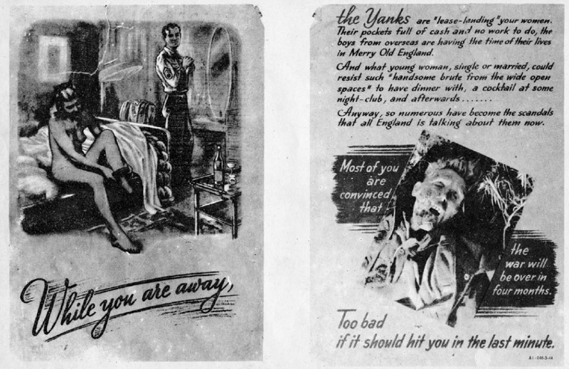 These Nazi Propaganda Leaflets Dropped on American Soldiers Are Nauseating