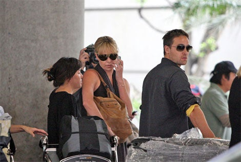 Charlize Theron, Stuart Townsend: Not Amused
