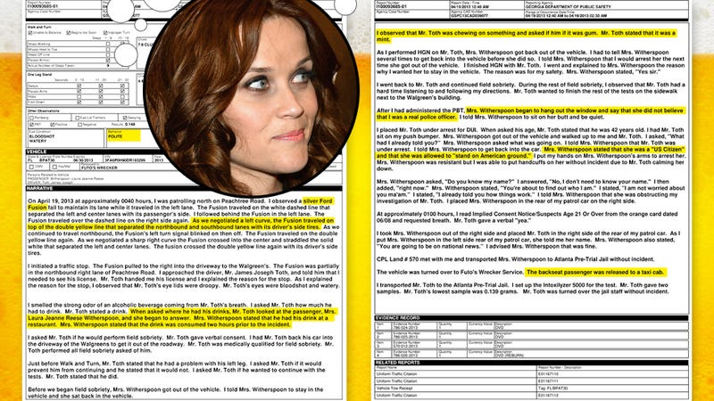 Reese Witherspoon's Police Report, Annotated