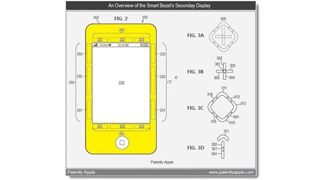 Apple Patent Hints at iPhones With Smart Bezels For Visual Cues