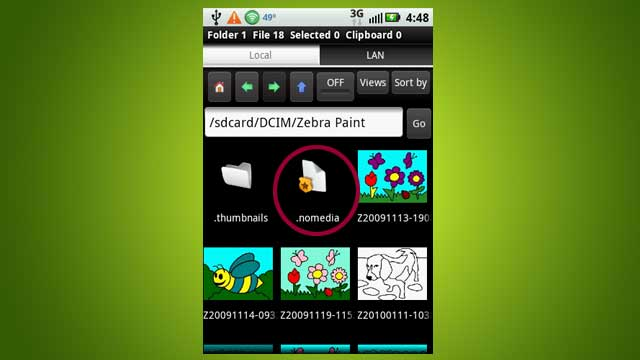 Disable Media Scanning in Specific Android Directories With a .Nomedia File