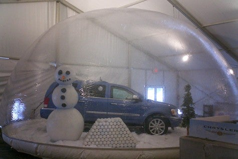 Giant Snowmen Hold Chrysler Products Hostage, Use Force Field