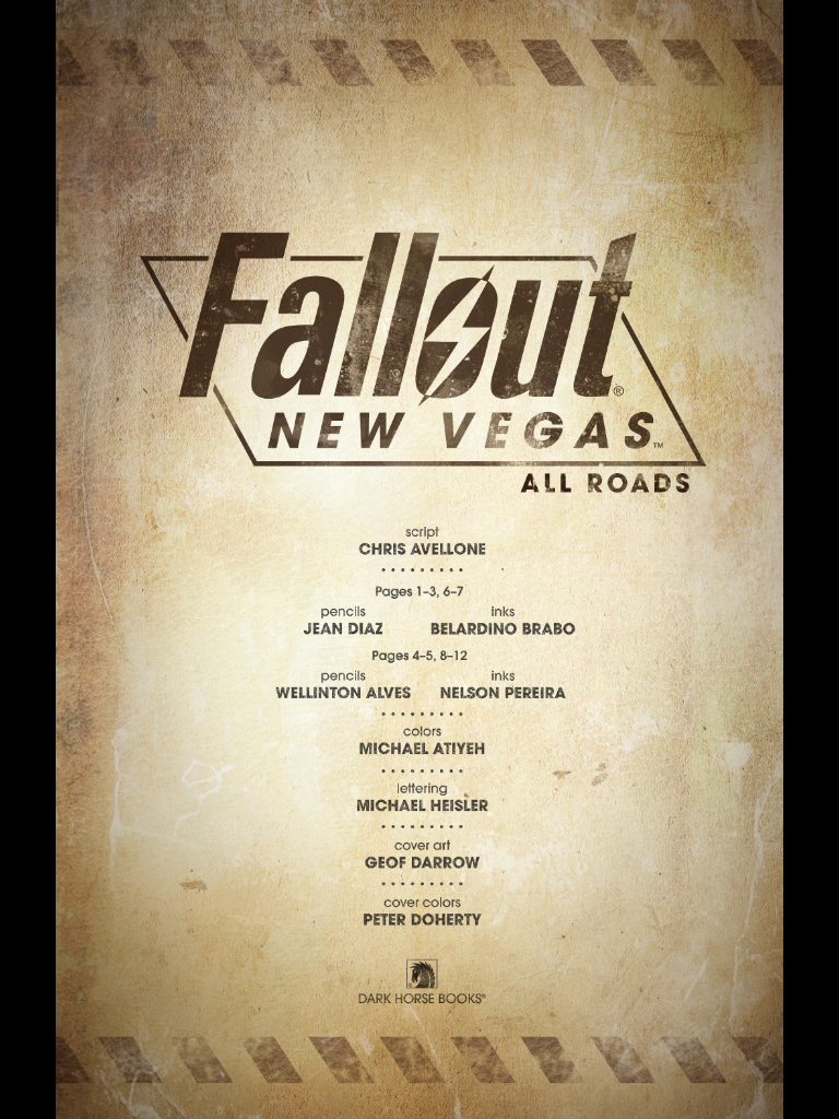 Free Fallout: New Vegas Graphic Novel Preview Hits iPad
