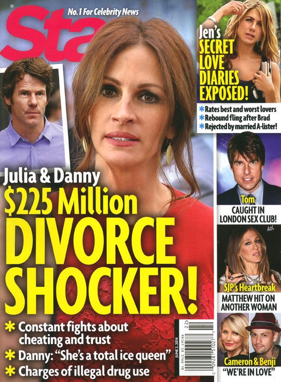 This Week In Tabloids: Julia Roberts Is a Cold-Hearted Bitch of a Wife