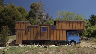 New Zealand Couple Turns Dingy Cargo Truck Into A Quaint Country Home