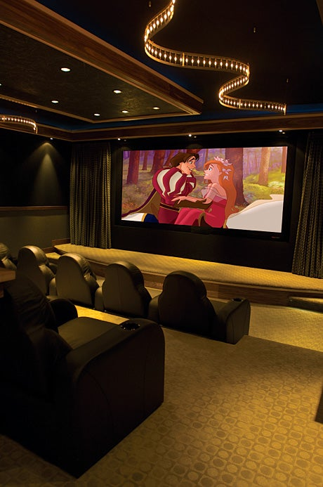 Homes With Hidden Home-Theater Tech Dazzle Us With Luxury, Expense