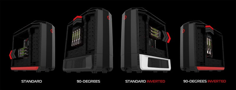 There Are Four Ways To Mount A Motherboard In This PC Case