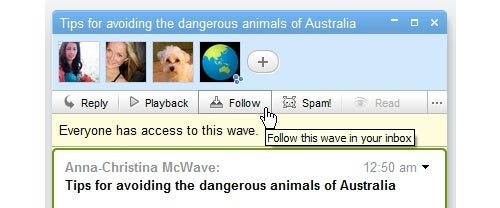 Google Wave Adds Follow/Unfollow Feature for a Cleaner Inbox