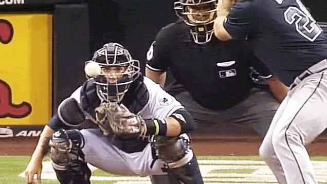Evan Gattis Slugged The Rosin Off A Baseball