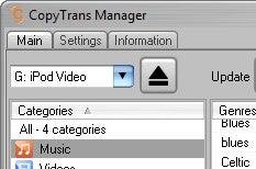 CopyTrans Manager is a Lightweight iTunes Alternative