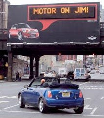 Mini Motorby Billboards Put Your Fave Saying Up in Lights