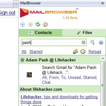 MailBrowser Keeps Gmail Contacts, Attachments Local and Handy