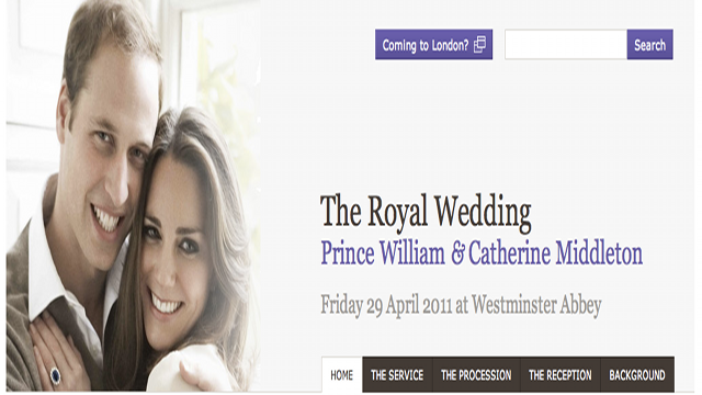 Official Royal Wedding Website Somewhat Disappointing
