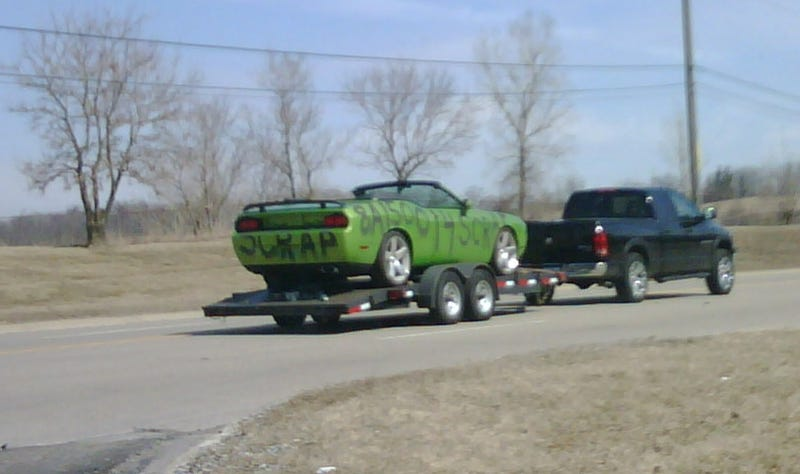 Dodge Challenger Convertible Spotted On Way To Scrap Yard