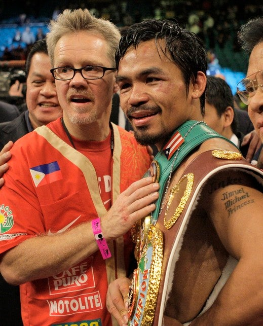 Manny Pacquiao's Trainer Thinks He'd Retire After A Mayweather Fight