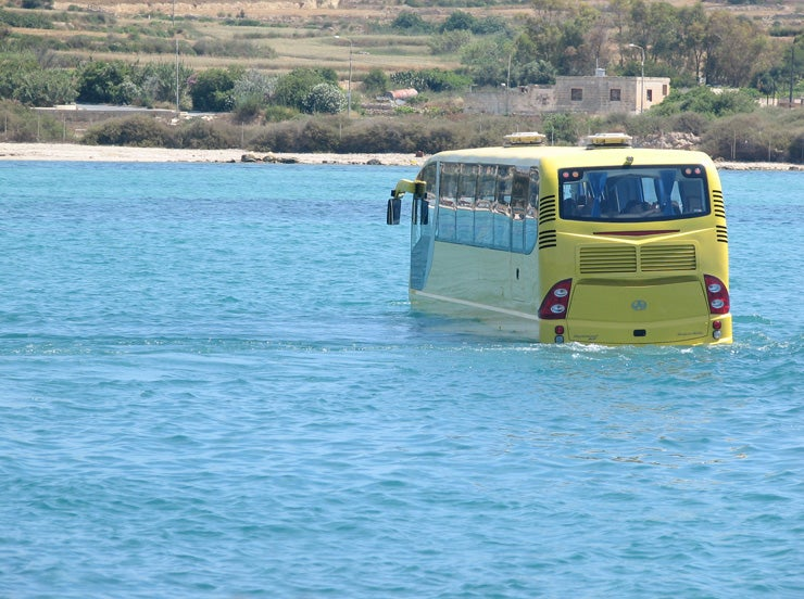 Amphicoach Amphibious Tourist Bus: Greyhound Meets Dolphin
