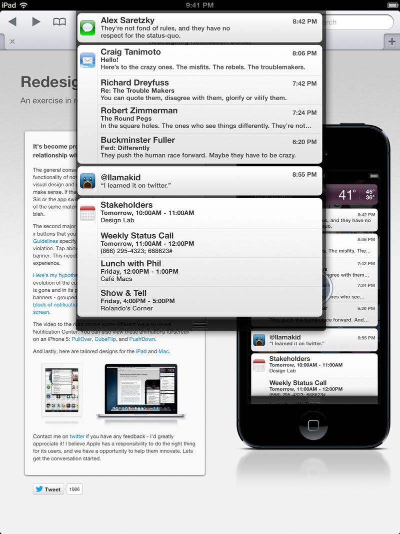 Redesigning Notification Center