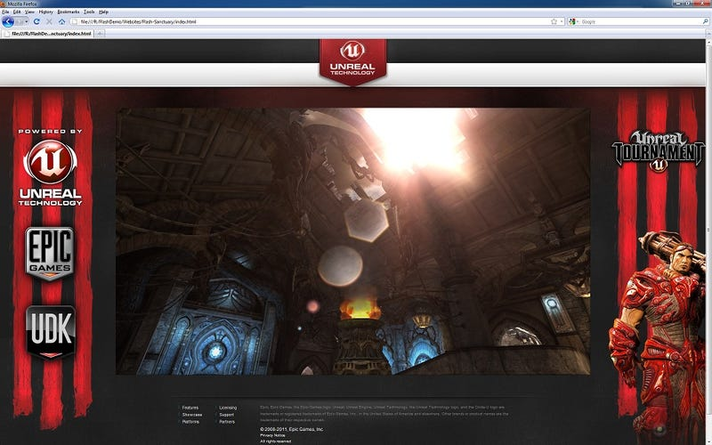 Unreal Engine 3 Now Works in Flash. Yes, the Same Flash That's In Your Browser, Facebook