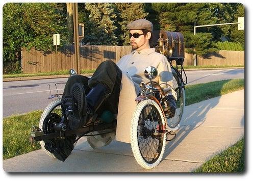 Steampunk Tadpole Trike is a Geek's Dream on Three Wheels