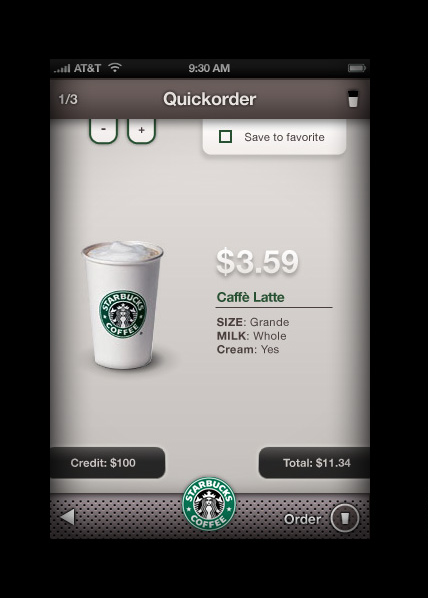 iPhone Starbucks Ordering Screens Look Like the Real Thing, Precede Apple Patent