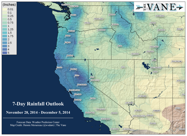 Maps: Beneficial Rain on Its Way to California and Oregon Next Week