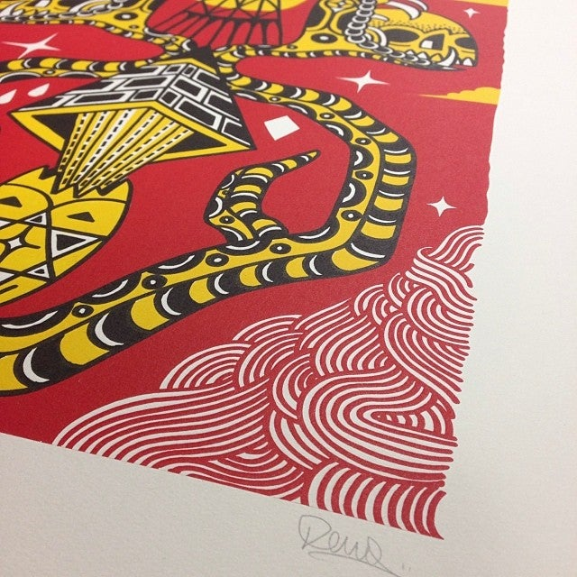 Shoot Electricity From Your Skull With These Great Silk Screen Prints