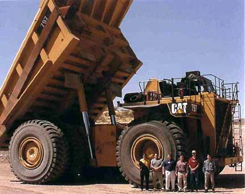 Caterpillar Building 700-Ton, Completely Automatic Mega Dump Truck