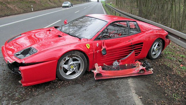 Man Crashes Ferrari To Save Hedgehog