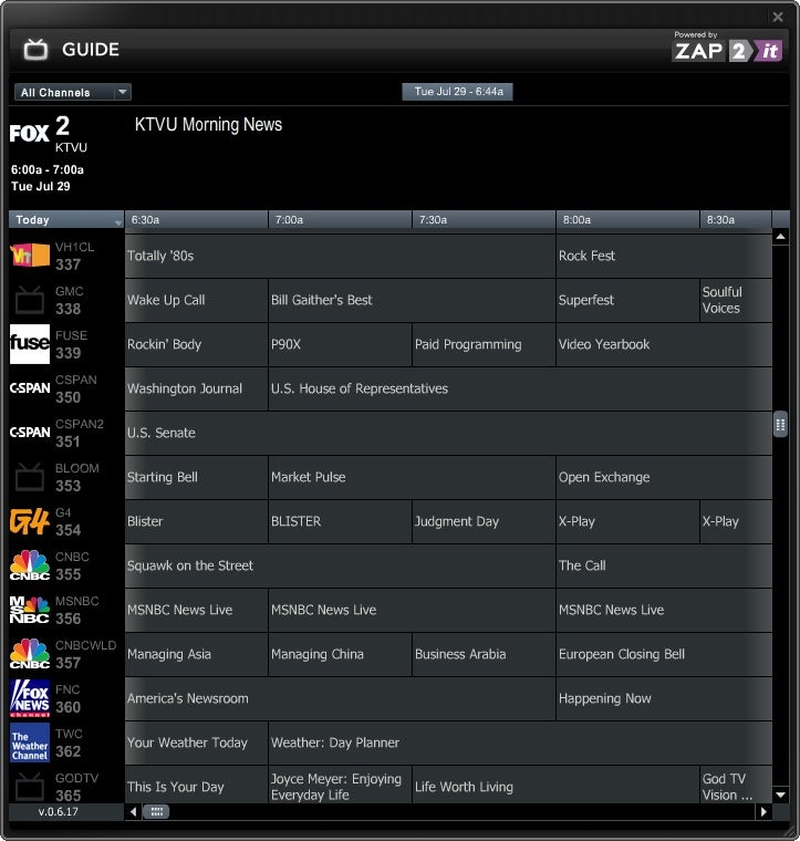SlingPlayer Windows 2.0 Beta Includes Programming Guide, DVR-Like Controls