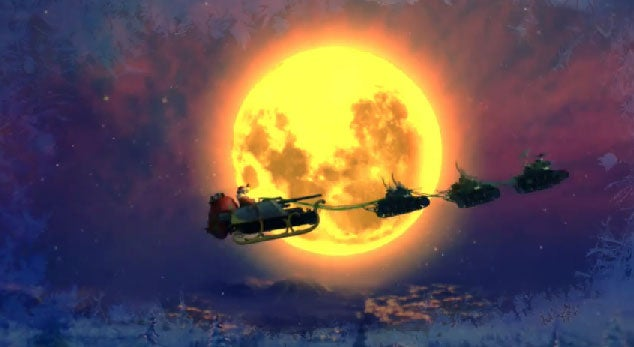 There Are No Silent Nights When Santa Rides A Tank