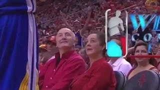 Lady Rockets Fan Would Prefer Her Husband Stop Taunting Stephen Curry