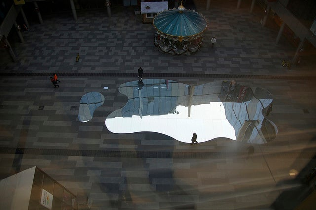 Giant Mirror Lakes Invade Beijing To Reflect China's Water Crisis