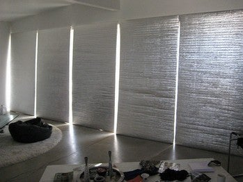 diy panels insulate large windows and doors. Black Bedroom Furniture Sets. Home Design Ideas