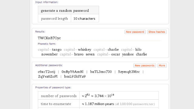 Create Strong But Memorable Passwords with Phonetic Forms in Wolfram Alpha