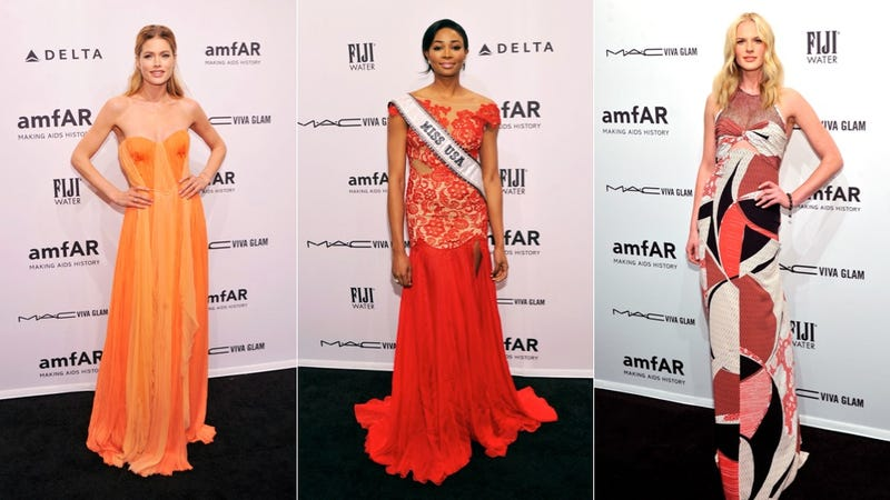 See-Through Dresses and Flesh on Display at the AmFar Gala