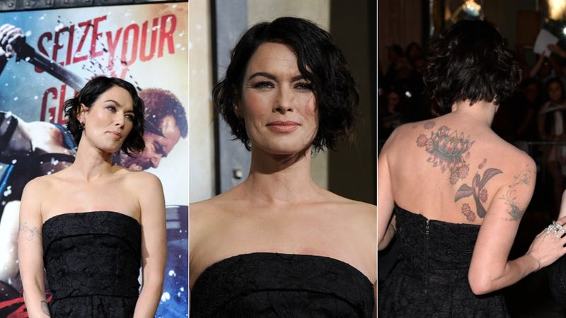 Cersei Lannister Invites You to Admire Her Awesome Tattoos