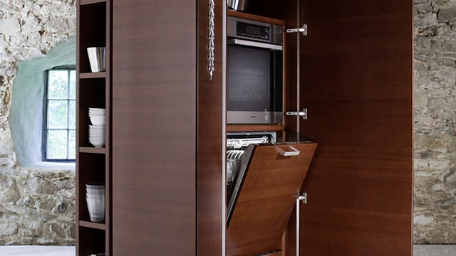 Philippe Starck Crammed an Entire Kitchen into These Space-Saving Towers