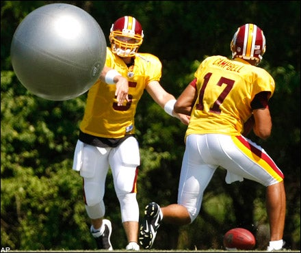 Redskins QBs Prepare for Rugged NFC East With Dodgeball