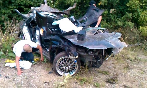 Here's What Happens When You Crash Into A Telephone Pole At 100 MPH