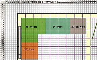 Designing A Floor Plan Using Excel