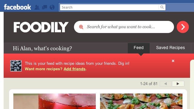 Foodily Brings Recipe Sharing and Cooking Tips to Facebook