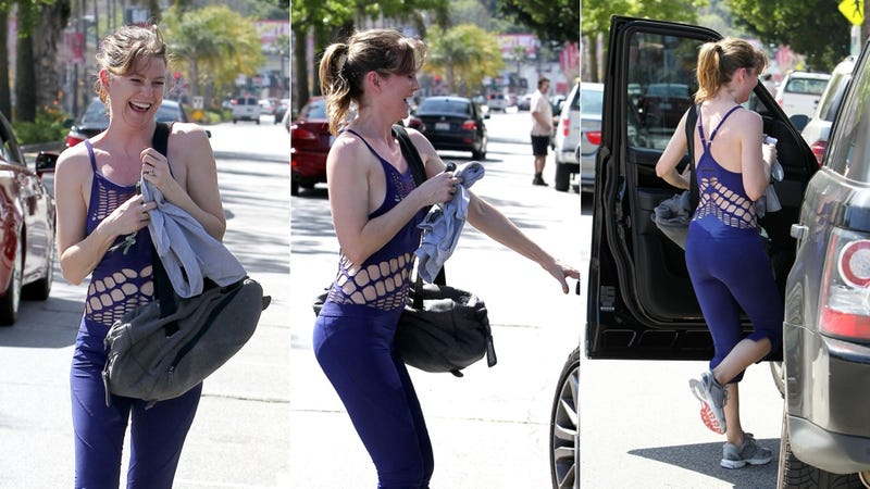 Hey, Ellen Pompeo: Our Workout Clothes Have Holes In 'Em, Too!